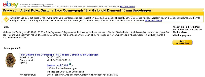 Gefährliche Mails von eBay